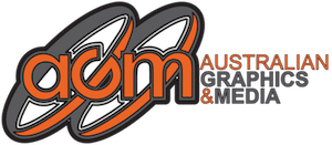 AGM Albury – Australian Graphics and Media Logo